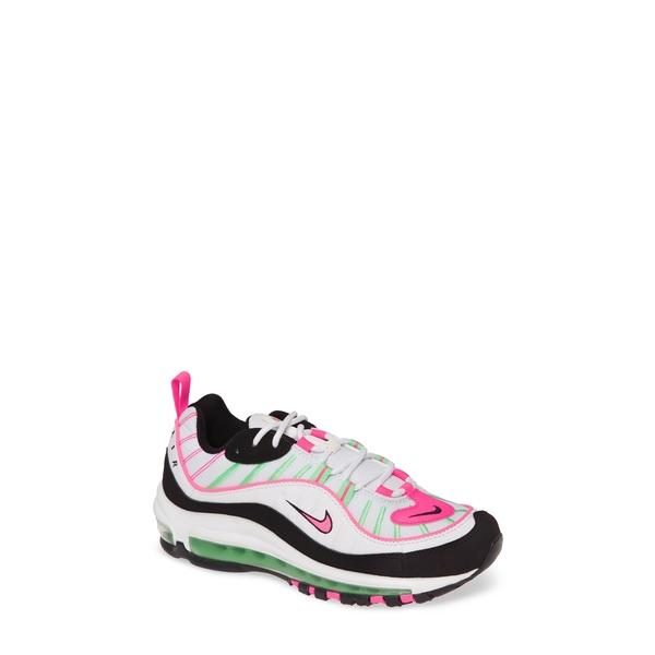 ナイキ レディース スニーカー シューズ Air Max 98 Sneaker White/ Hyper Pink/ Green