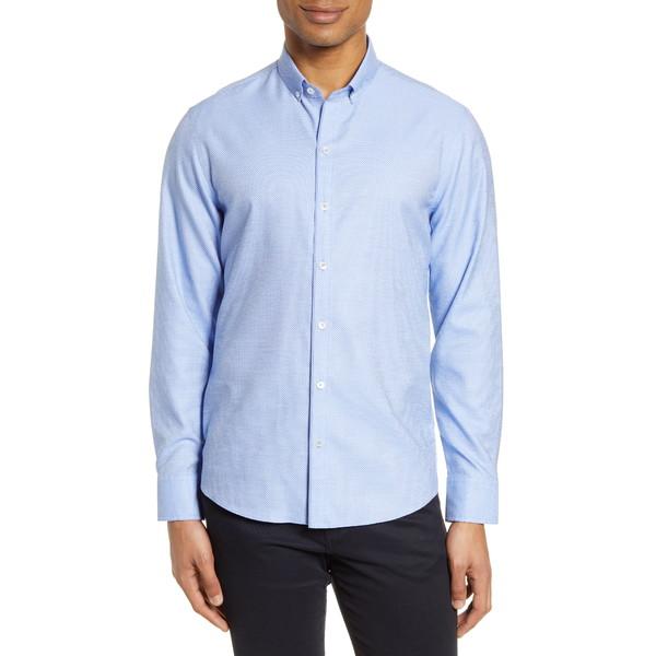 ザッカリープレル メンズ シャツ トップス Bethea Classic Fit Dobby Button-Down Shirt Blue
