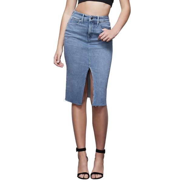 グッドアメリカン レディース スカート ボトムス Denim Pencil Skirt Blue420