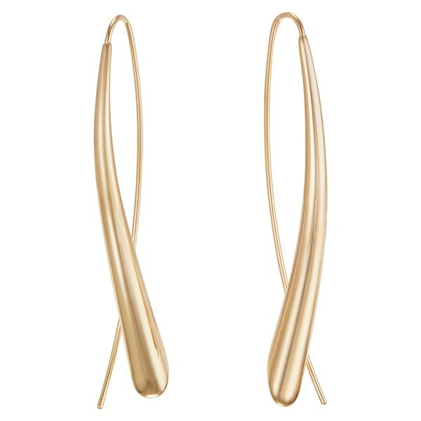 ラナ レディース ピアス&イヤリング アクセサリー Narrow Upside Down Hoop Earrings Yellow Gold