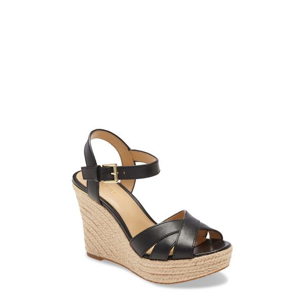マイケルコース レディース サンダル シューズ Suzette Platform Wedge Sandal Black