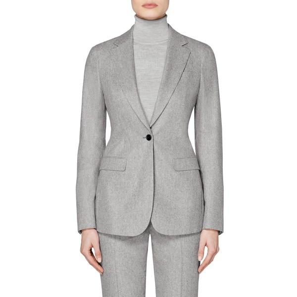 スイスタジオ レディース ジャケット&ブルゾン アウター Cameron Single Breasted Wool Blazer Light Grey