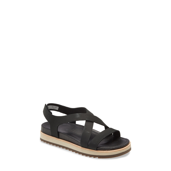 メレル レディース サンダル シューズ Juno Backstrap Sandal Black Leather
