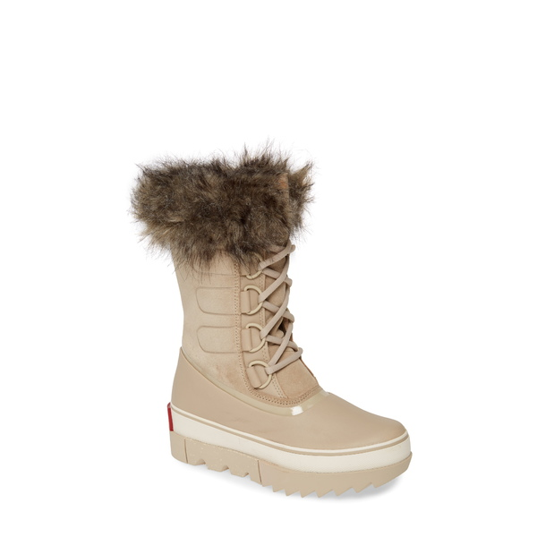 ソレル レディース ブーツ&レインブーツ シューズ Joan of Arctic Next Faux Fur Waterproof Snow Boot Ancient Fossil Leather