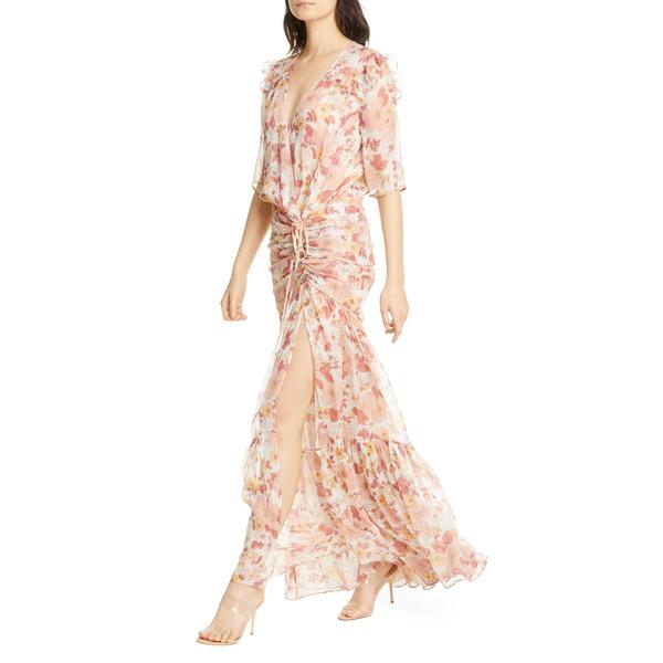 ヴェロニカ ベアード レディース ワンピース トップス Mick Floral Metallic Silk Maxi Dress Melon Multi