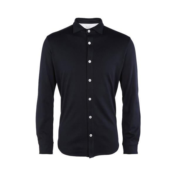 イレブンティ メンズ シャツ トップス Trim Fit Button-Up Shirt Light Gray Melange