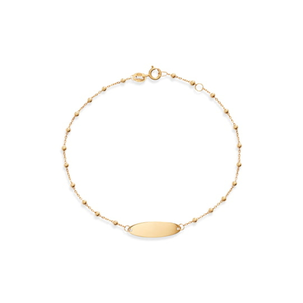 ボニー レヴィ レディース ブレスレット・バングル・アンクレット アクセサリー Beaded ID Bracelet Yellow Gold
