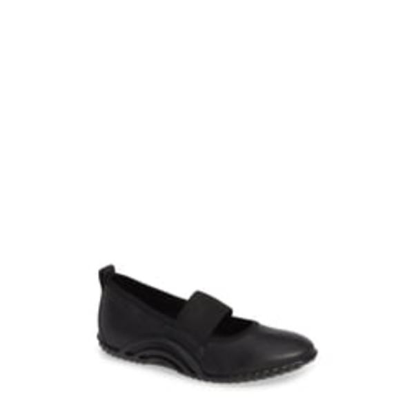 エコー レディース サンダル シューズ Vibration 1.0 Mary Jane Flat Black Leather