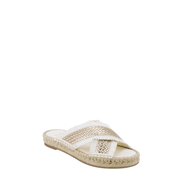 マーク・フィッシャー レディース サンダル シューズ Tessi Slide Sandal Gold/ White Fabric