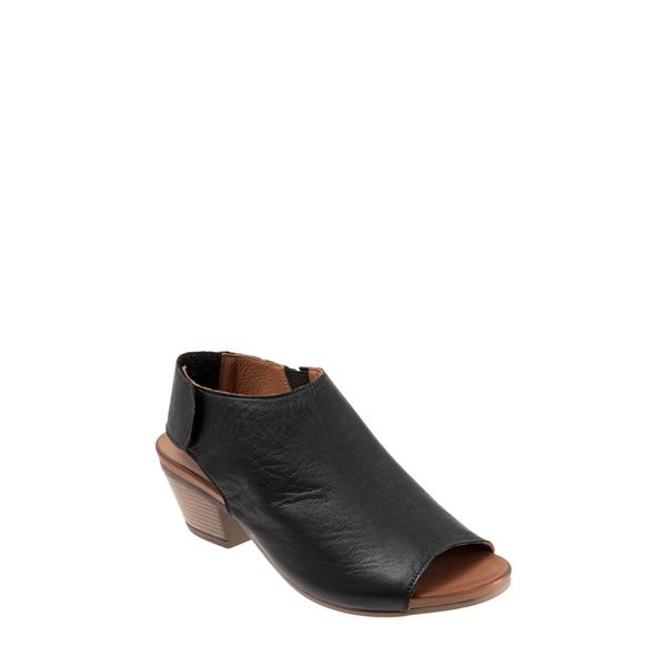 ブエノ レディース サンダル シューズ Lotus Peep Toe Sandal Black Leather