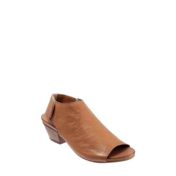 ブエノ レディース サンダル シューズ Lotus Peep Toe Sandal Brown Leather