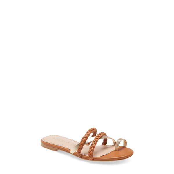 アレグラ ジェームス レディース サンダル シューズ Lucy Side Sandal Brown Leather