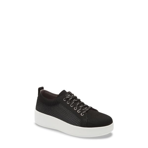 トラックバイアレグリア レディース スニーカー シューズ Qruise Platform Sneaker Black Fabric