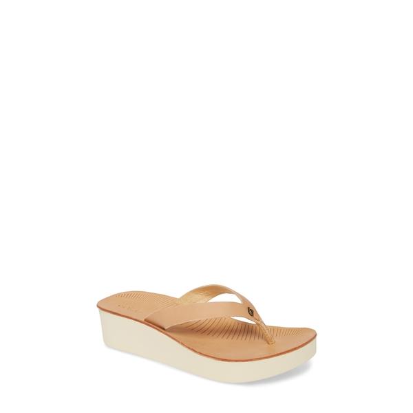 オルカイ レディース サンダル シューズ Ao Loa Flip Flop Golden Sand Leather