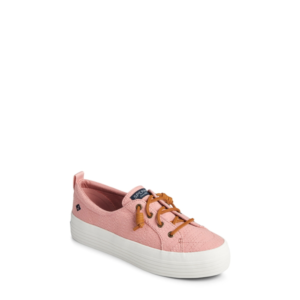 スペリー レディース スニーカー シューズ Crest Vibe Slip-On Platform Sneaker Rose Smocked Fabric