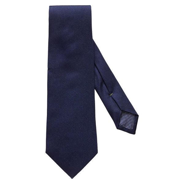 エトン メンズ ネクタイ アクセサリー Solid Silk Tie Navy