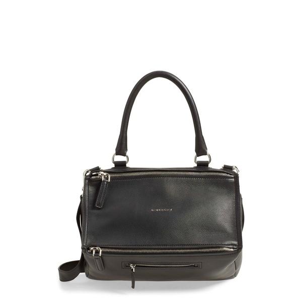 ジバンシー レディース ハンドバッグ バッグ Medium Pandora Sugar Leather Satchel Black