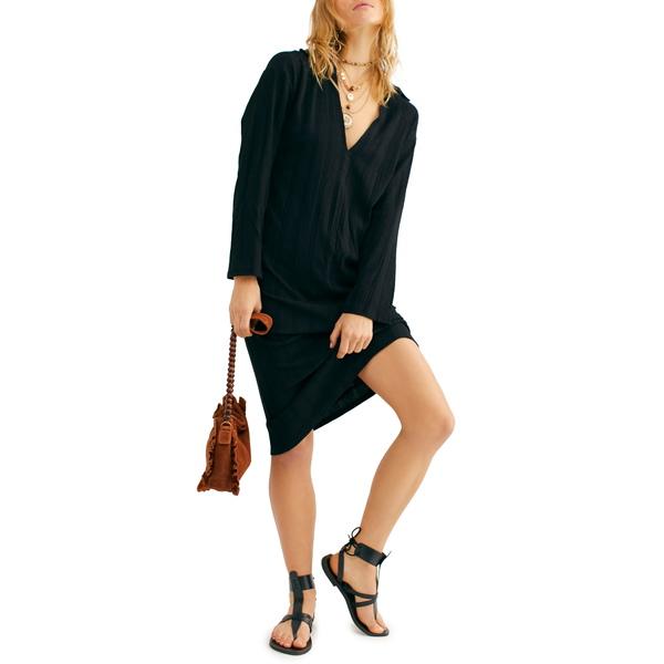 フリーピープル レディース ワンピース トップス Endless Summer by Free People Aster Long Sleeve Dress Black