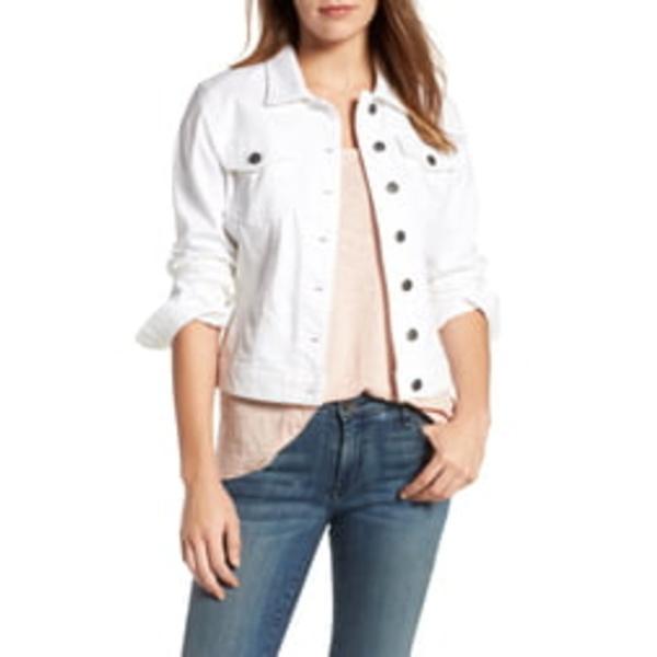 カットフロムザクロス レディース ジャケット&ブルゾン アウター 'Helena' Denim Jacket Optic White