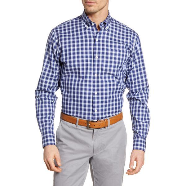 ピーター・ミラー メンズ シャツ トップス Looking Glass Regular Fit Check Button-Down Shirt Navy