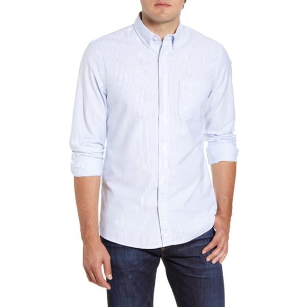 ワンナインオーワン メンズ シャツ トップス Trim Fit Washed Oxford Shirt Blue Dusk Oxford