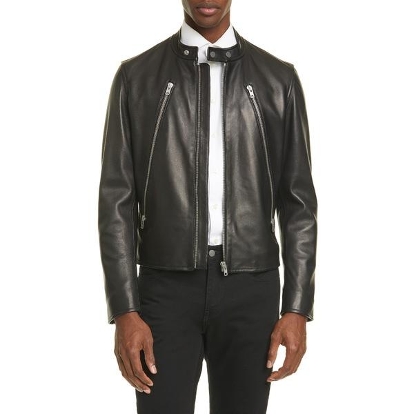 マルタンマルジェラ メンズ ジャケット&ブルゾン アウター Leather Moto Jacket Black