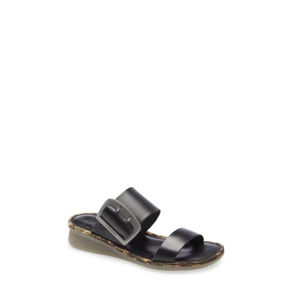フライロンドン レディース サンダル シューズ Cape Slide Sandal Black Bridle Leather