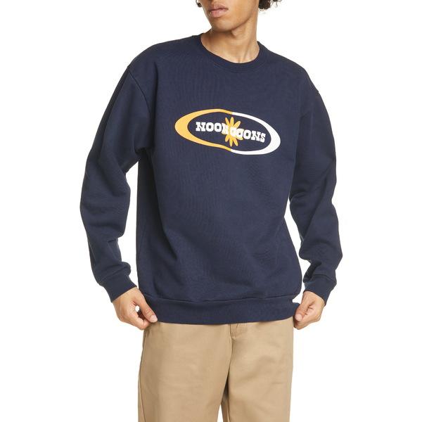 ヌーングーンズ メンズ シャツ トップス Orb Crewneck Sweatshirt Navy