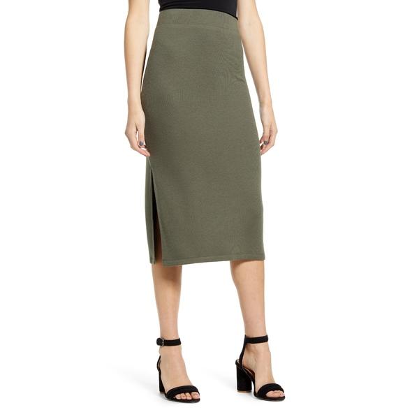 チェルシー28 レディース スカート ボトムス Knit Pencil Skirt Olive Sarma