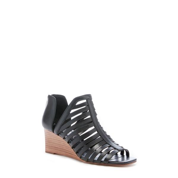 ソロソサエティ レディース サンダル シューズ Serifyna Wedge Sandal Black Leather