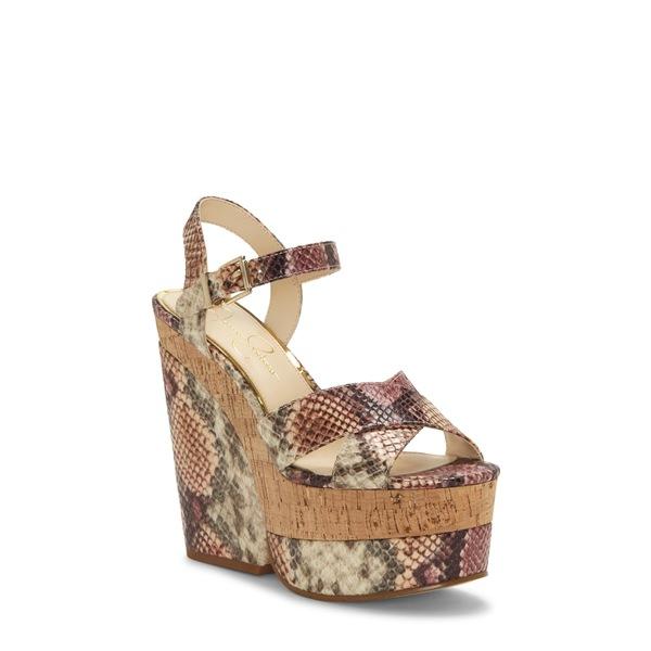 ジェシカシンプソン レディース サンダル シューズ Jirie Platform Sandal Mauve Combo Snake Print