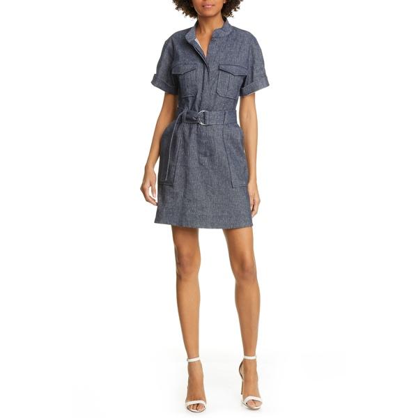 エーエルシー レディース ワンピース トップス Romi Stretch Linen & Cotton Shirtdress Indigo