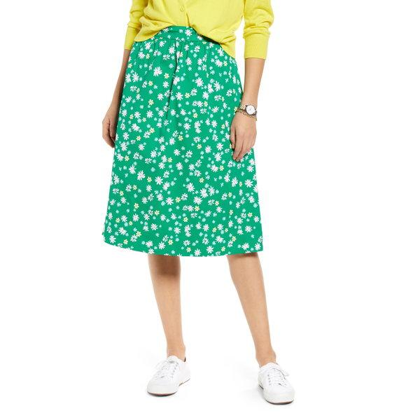 ワンナインオーワン レディース スカート ボトムス Pull-On A-Line Skirt Green Jolly Retro Daisy