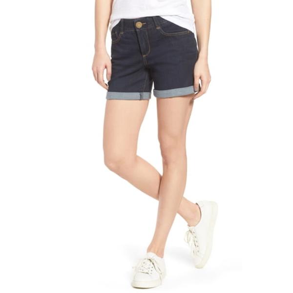 ウィットアンドウィズダム レディース カジュアルパンツ ボトムス Ab-Solution Cuffed Denim Shorts Indigo