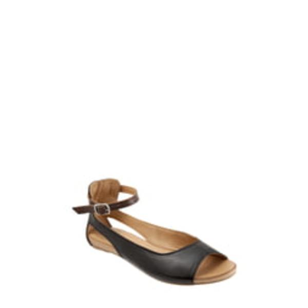 ブエノ レディース サンダル シューズ Donna Ankle Strap Sandal Black Leather