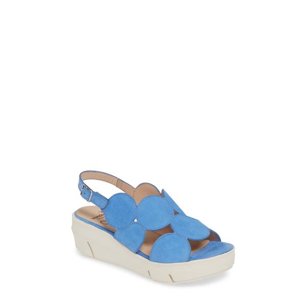 ワンダーズ レディース サンダル シューズ Platform Sandal Ante Blue Suede