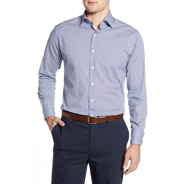 ピーター・ミラー メンズ シャツ トップス Chevron Brick Regular Fit Button-Up Shirt Navy