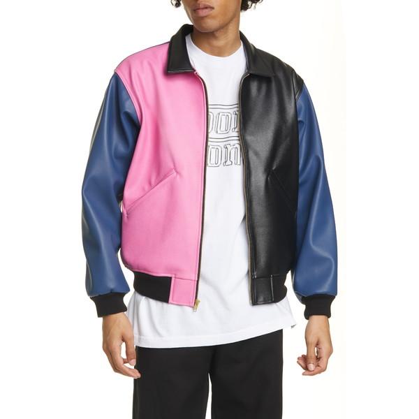 ヌーングーンズ メンズ ジャケット&ブルゾン アウター Tri Me Colorblock Jacket Black/ Pink/ Blue