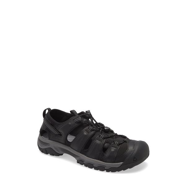 キーン メンズ サンダル シューズ Targhee III Sandal Black/ Grey