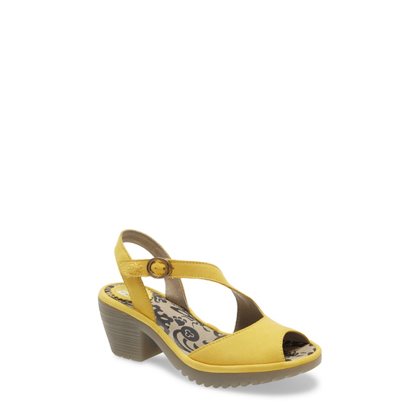 フライロンドン レディース サンダル シューズ Wyno Sandal Bright Yellow Cupido Leather