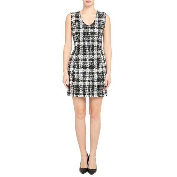 セオリー レディース ワンピース トップス Tweed Sleeveless Sheath Dress Black Multi