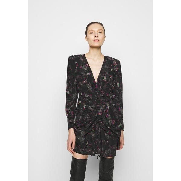 愛用  イロ レディース ワンピース トップス MOKIE DRESS - Day dress - black/multicoloured hcxv00d9, テクネットストア bdf671d3