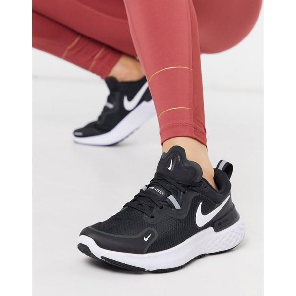 ナイキ レディース スニーカー シューズ Nike Running React Miler sneakers in black Black