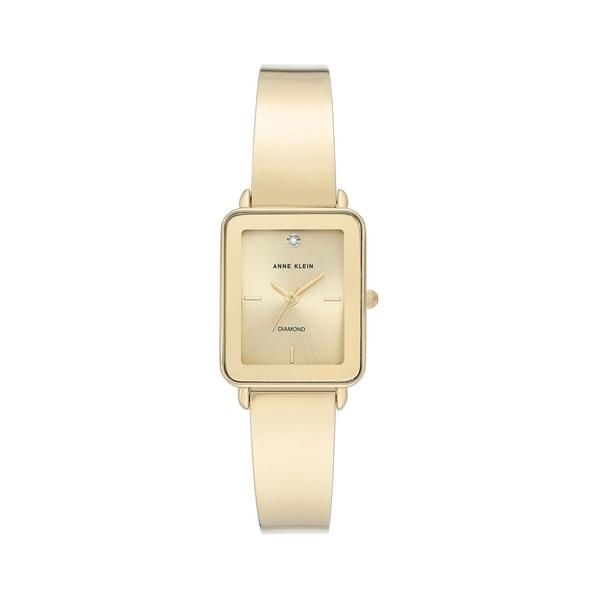 アンクライン レディース 腕時計 アクセサリー Goldtone & Diamond Bangle Bracelet Watch Gold