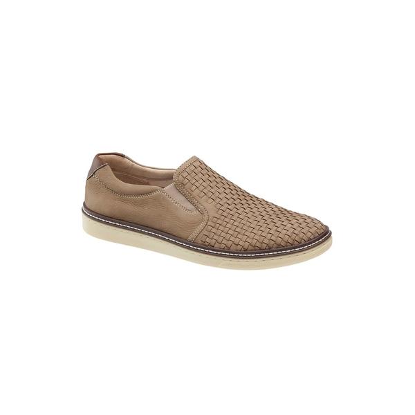 ジョンストンアンドマーフィー メンズ スニーカー シューズ Mcguffey Woven Nubuck Slip-On Sneakers Sand