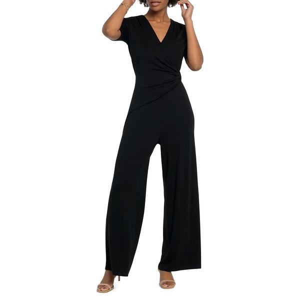 ニックプラスゾーイ レディース ワンピース トップス Twisted Short-Sleeve Jumpsuit Black Onyx