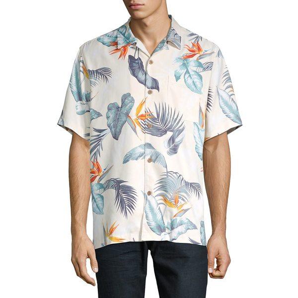 トッミーバハマ メンズ シャツ トップス Classic-Fit Bird's Eye View Camp Shirt Bleached Sand