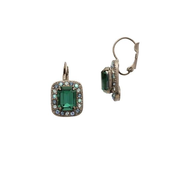 ソレーリ レディース ピアス&イヤリング アクセサリー Opulent Octagon Earrings Green