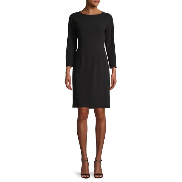 マックマーラ レディース ワンピース トップス Three-Quarter Sleeve Mini Dress Black