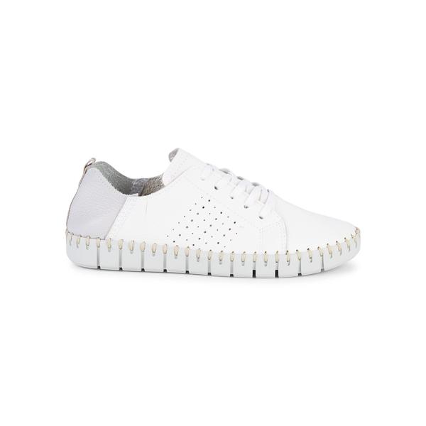 カーベラコンフォート レディース スニーカー シューズ Coco Leather Sneakers White